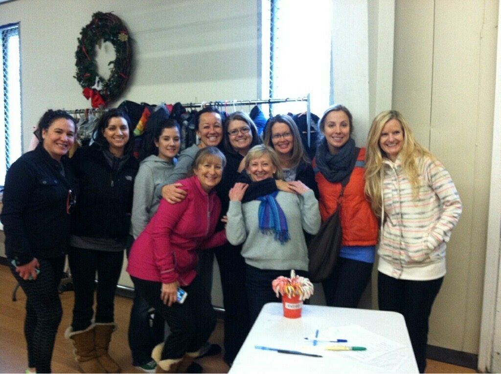 This is us at Community Ministries dropping off the gifts